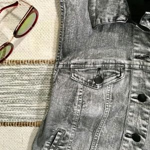 Metallic Premium Denim Vest